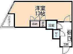 コンチネンタル清水[2階]の間取り
