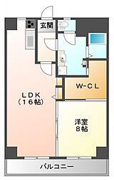 内田ロイヤルハイツ[4階]の間取り