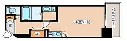 神戸市西神・山手線 湊川公園駅 徒歩1分の賃貸マンション 8階1Kの間取り