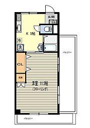 Pフラット[4階]の間取り
