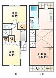 [テラスハウス] 東京都東大和市清水2丁目 の賃貸【/】の間取り