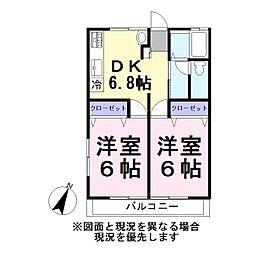 コーポドリーム[2階]の間取り