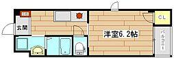 ローズミード総持寺[2階]の間取り