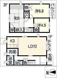 [タウンハウス] 愛知県安城市里町3丁目 の賃貸【/】の間取り