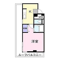 兵庫県高砂市荒井町中新町の賃貸マンションの間取り