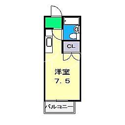 ハイツヤマサキ[1階]の間取り