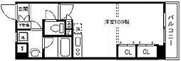 アール・ケープラザ横浜関内ポートサイドビュー[516号室]の間取り