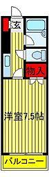 アムールISHIZUKA[202号室]の間取り