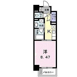 クラール花ノ宮(マンション) 2階1Kの間取り