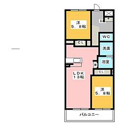 ラウレアII[2階]の間取り