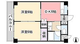 エミュールマンション[205号室]の間取り