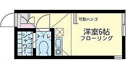 神奈川県川崎市幸区塚越2丁目の賃貸アパートの間取り