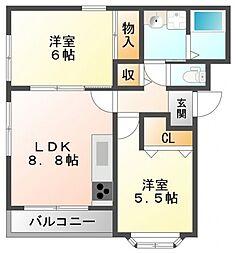 サニーコート小曽根[2階]の間取り