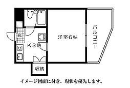 第10片山ビル[704号室]の間取り