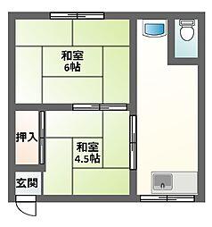 堀井マンション2号館[1階]の間取り