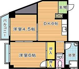 新教育ビル[2階]の間取り