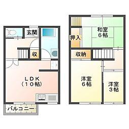 松が丘住宅19-B号棟[2階]の間取り