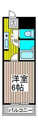 ジュネパレス川口第01[2階]の間取り