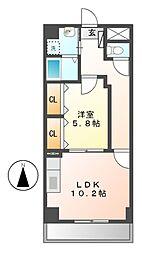 愛知県名古屋市中区金山2丁目の賃貸マンションの間取り