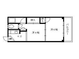 マンション中野[2階]の間取り