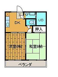 フラワール相模マンション[3階]の間取り