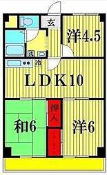ニュー松戸コーポC棟[4階]の間取り