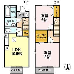 [テラスハウス] 徳島県徳島市住吉4丁目 の賃貸【/】の間取り