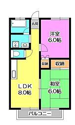 第二渟城マンション[2階]の間取り