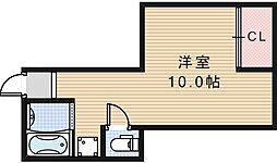 GS阿倍野[401号室]の間取り