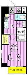 WAVE西新井[7階]の間取り