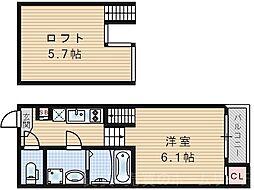 ハーモニーテラス塚本[1階]の間取り