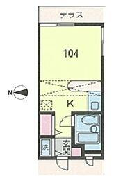 ベルピア・辻堂1-2[1階]の間取り