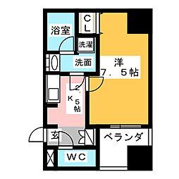 APEX名古屋栄Premier Life[4階]の間取り