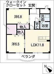 T−GRATITUDE[4階]の間取り