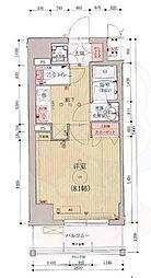 ベラジオ京都西院ウエストシティ3 3階1Kの間取り