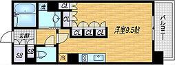 パークアクシス梅田[8階]の間取り