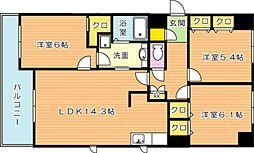 Olive1(オリーブ1)[4階]の間取り