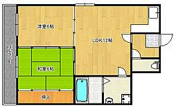SKサンコー諏訪野[4階]の間取り
