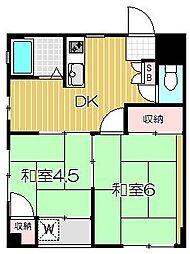コーポ遠藤[3階]の間取り