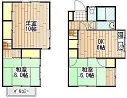[一戸建] 神奈川県相模原市南区東大沼2丁目 の賃貸【/】の間取り