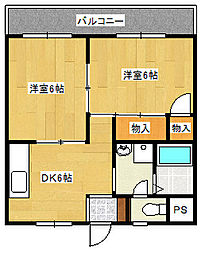 栄第1マンション[1C号室]の間取り