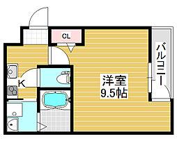 フジパレス堺北花田3番館[3階]の間取り