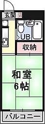 プレアール京都三条[5C号室号室]の間取り