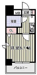 エスリード天王寺[8階]の間取り