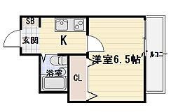 メロディハイム滝井[304号室]の間取り
