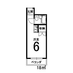 東洋産業ビル[302号室]の間取り