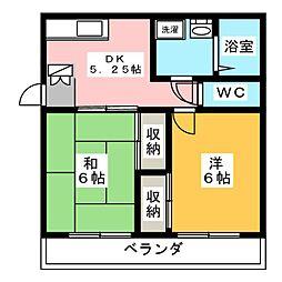 伊勢崎第2コートハウス[1階]の間取り