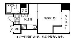 第7片山ビル[804号室]の間取り