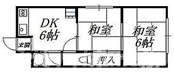 大阪府大阪市天王寺区堂ケ芝1丁目の賃貸マンションの間取り