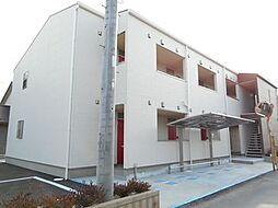 埼玉県東松山市美土里町の賃貸アパートの外観